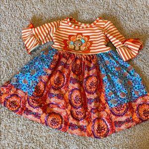 Jessica Ann 2T bohemian turkey dress. EUC